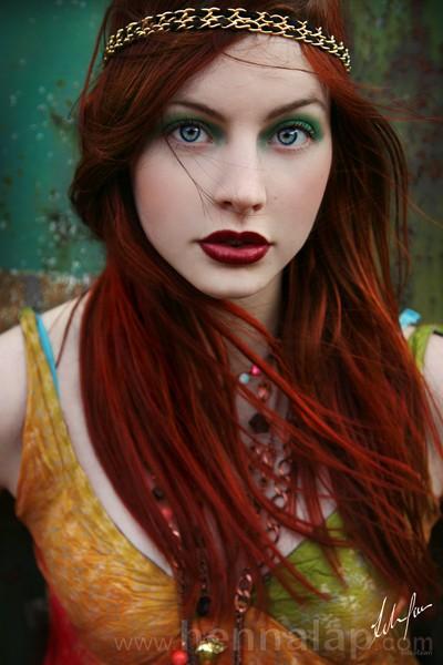 Vörös haj hennával